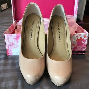 Nude Patent Leather Heel